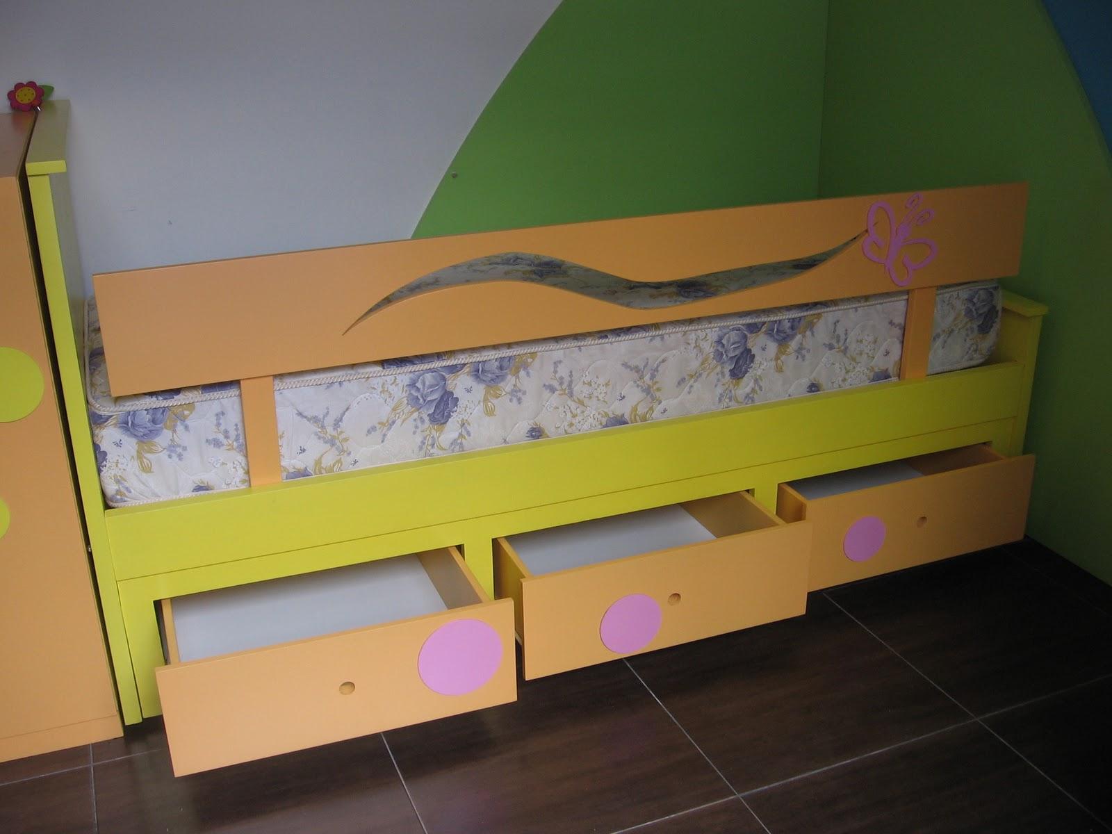 Arrorr muebles infantiles camas for Camas con cajones debajo