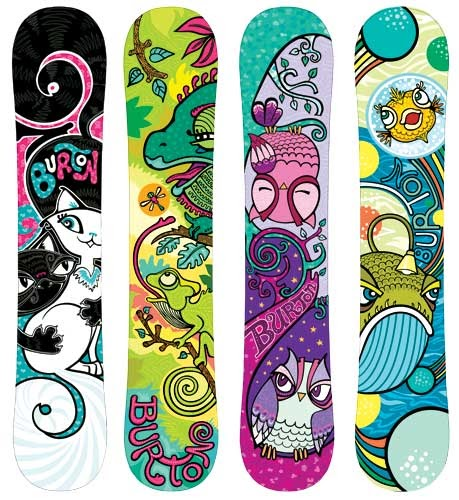 Lauren Likes To Draw Kids Animal Themed Snowboard Art
