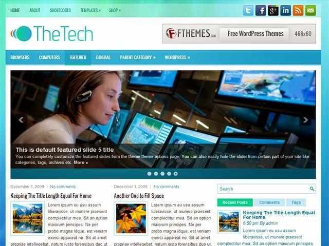 TheTech - Free Wordpress Theme