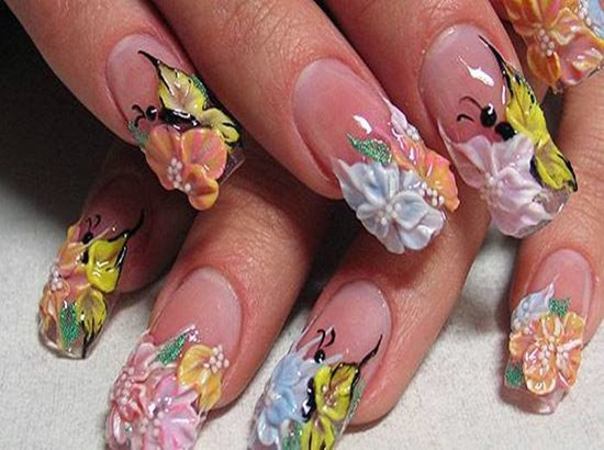 Butterfly 3d Nail Art Design - One Hundred Styles: Butterfly 3d Nail Art Design