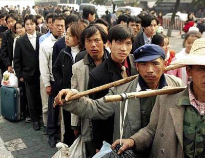 200 milhões de migrantes fornecem mão de obra miserável. Foto em Caijing