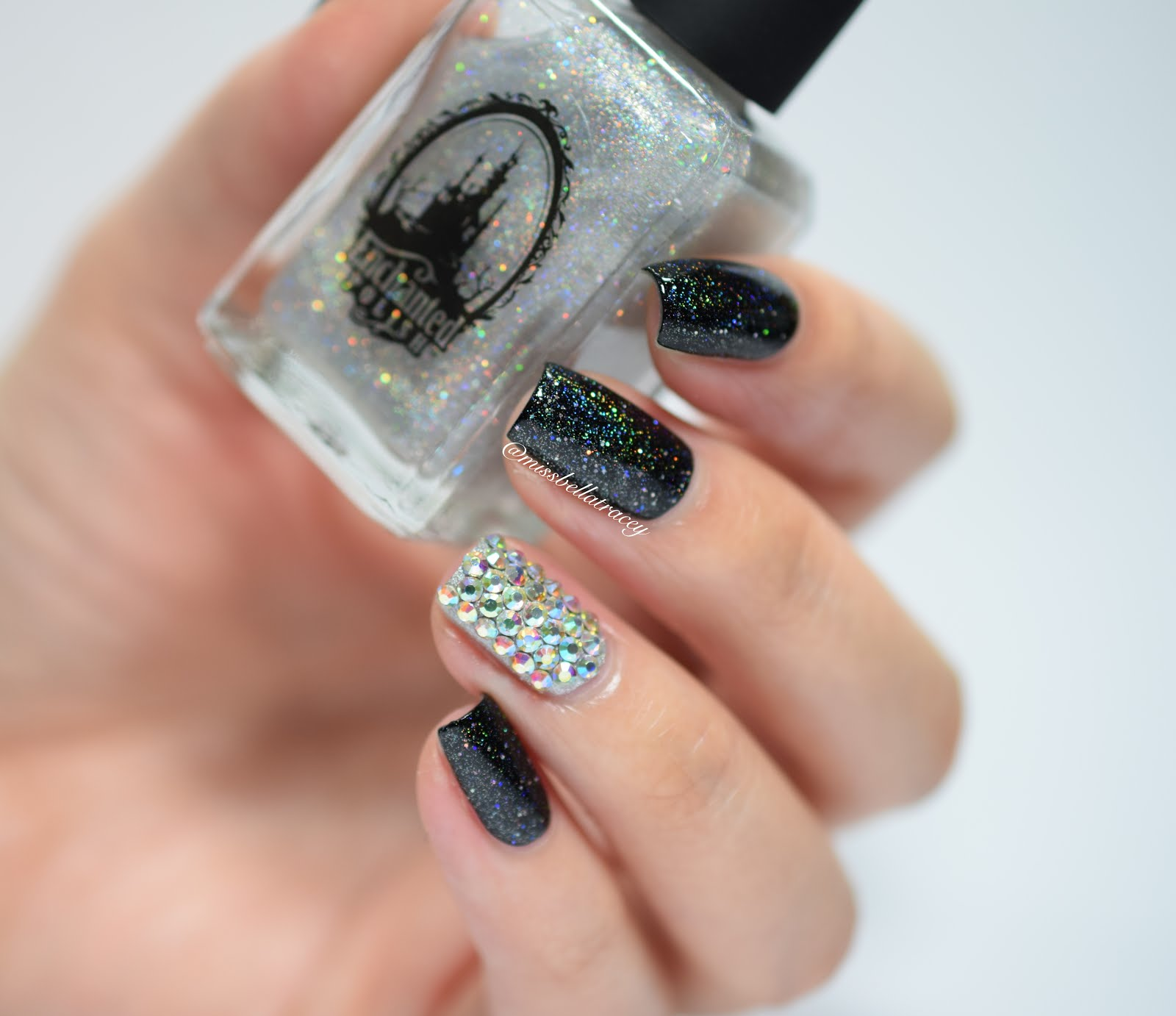 MissBellaTracey: WNAC - Diamond Nail Art