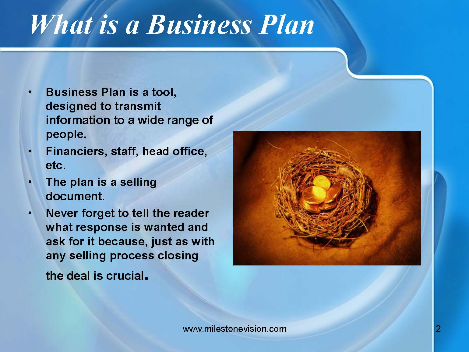 How to type a business plan