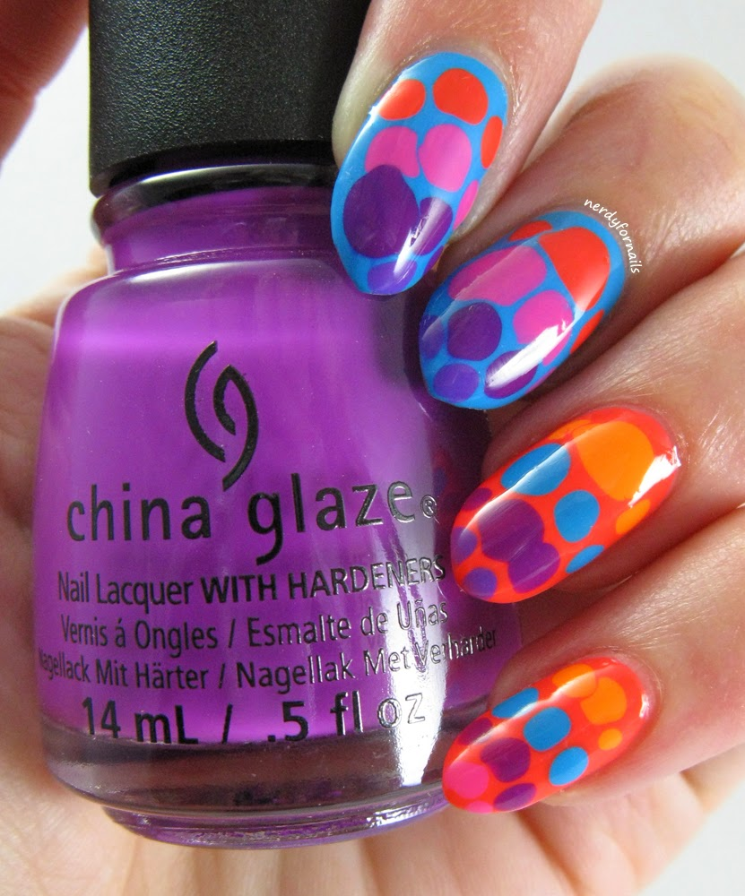 China Glaze Electric Nights Collection Summer 2015 Neon Blobicure