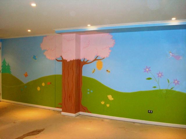Murales infantiles y decorativos paisajes infantiles for Murales decorativos paisajes