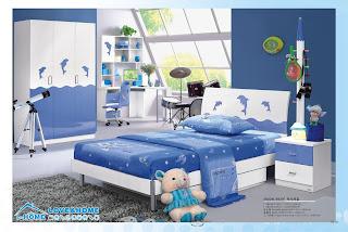 DORMITORIO CON DELFINES DOLPHIN BEDROOM via www.dormitorios.blogspot.com