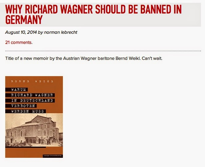 The latest nazi opera conspiracy book is out think classical now i havent yet read this new title by singer bernd weikl in his book why richard wagner must be banned in germany warum richard wagner in deutschland fandeluxe Choice Image