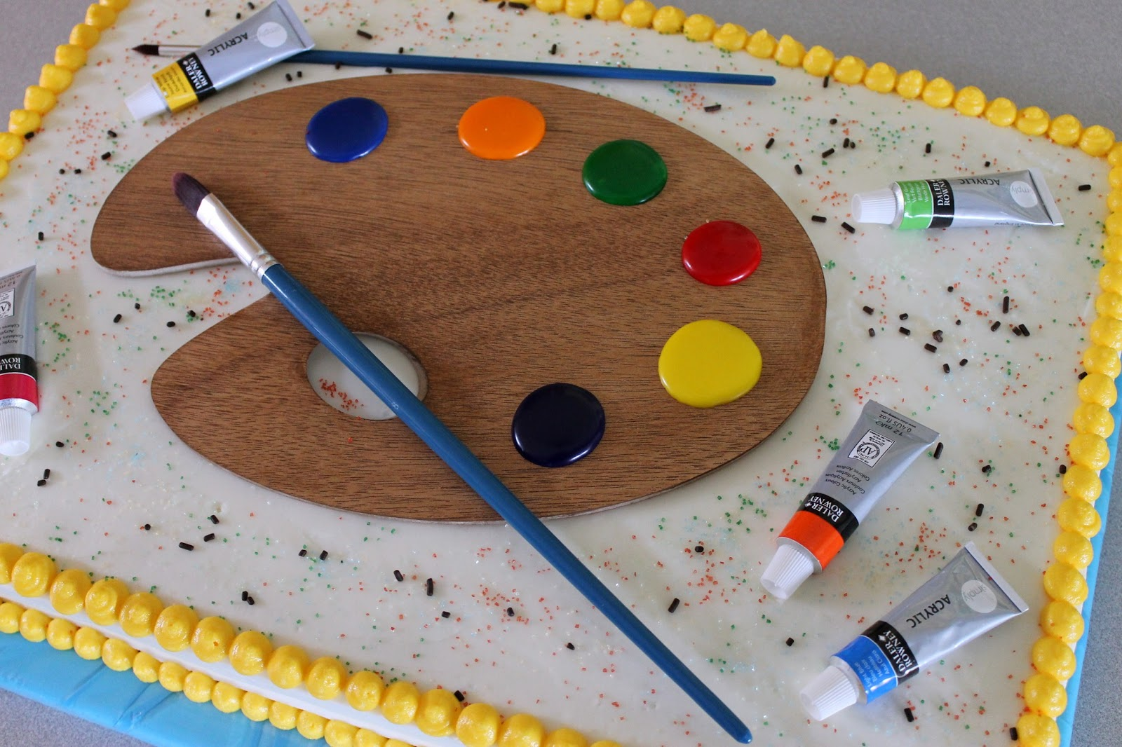 Cake With Artist Palette : The Simple Cake: Artist s Palette Cake