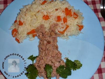 Arroz de Cenoura e Atum da minha Mini Chef