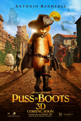 Puss in Boots 3d cover Antonio Banderas animatedfilmreviews.filminspector.com