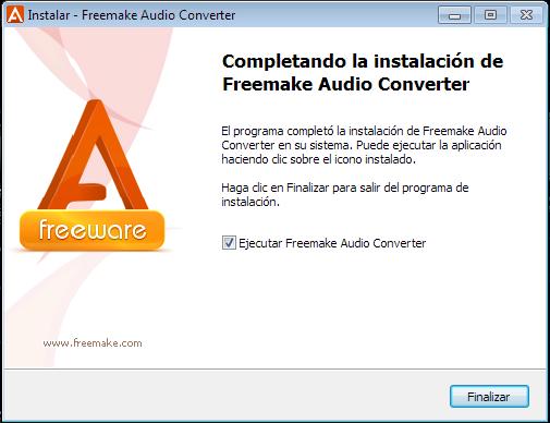 Instalación completa de Freemake Audio Converter