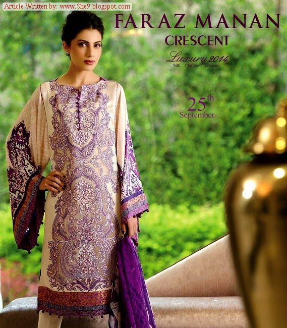 Crescent - Faraz Manan Luxury Eid Collection 2014