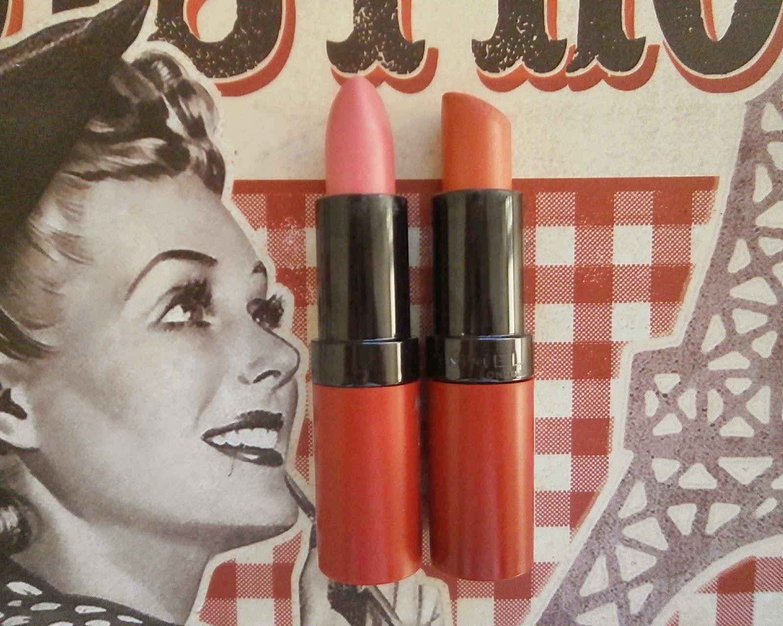 rimmel lasting finish matte by kate moss lipsticks