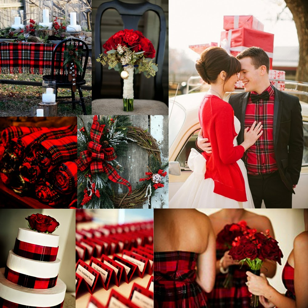 Lovely holiday board full of gorgeous plaid details