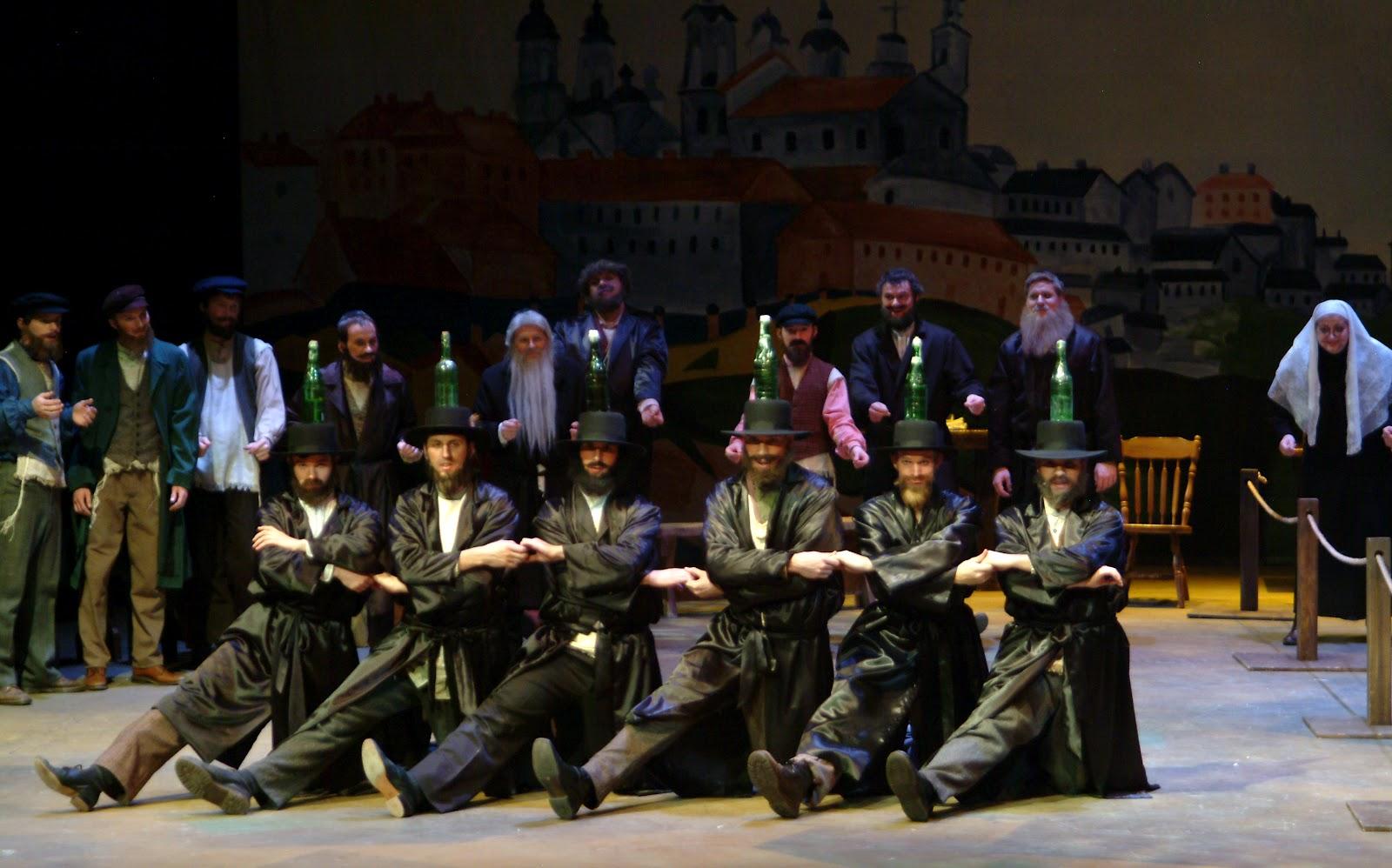 The Theatrical Designs Of Gary Benson Fiddler On Roof Scene