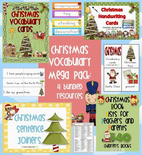 Christmas Vocabulary Pack a truck load of vocabulary resources for December centers
