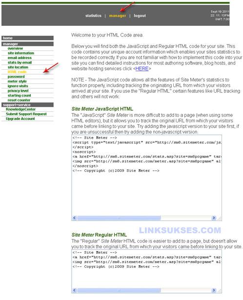 Pendaftaran Sitemeter