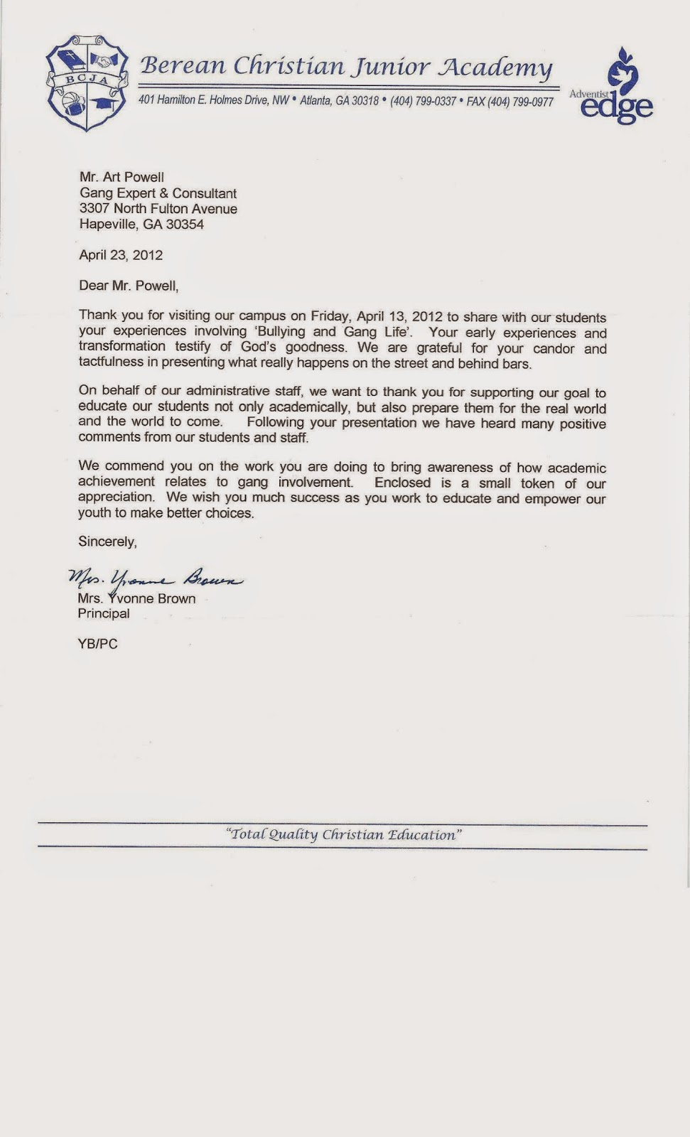 Art Powell Life Skills Coach Referencerecommendation Letters For