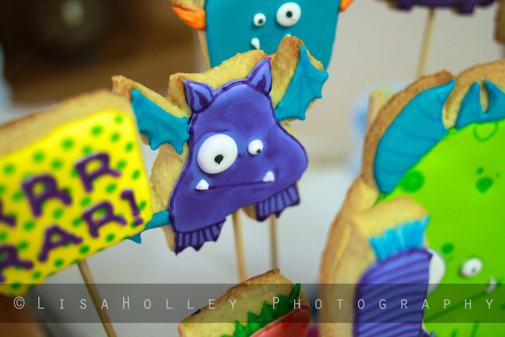 daily cookie monster baby shower cookie display
