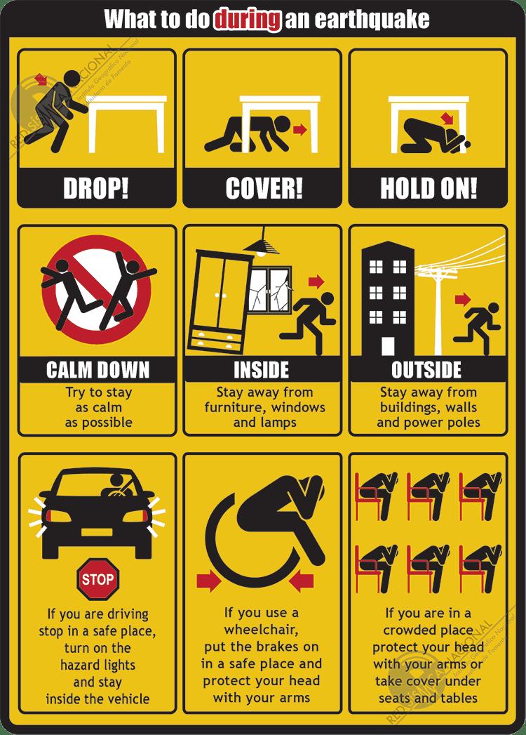 earthquake tips during an earthquake stay calm