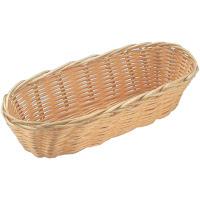 Cos pentru paine din polyrattan - oval,  rezistent la spargere, set de 3 bucati -  230x100x(H)60 mm