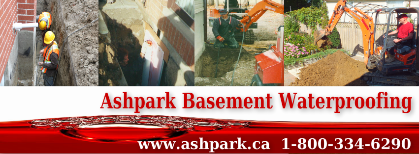 Ashpark Wet Leaky Basement Solutions Specialists | Wet Basement Ontario 1-800-334-6290