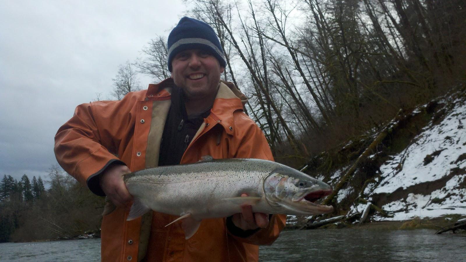 Washington west fishing adventures winter steelhead begins for Winter steelhead fishing