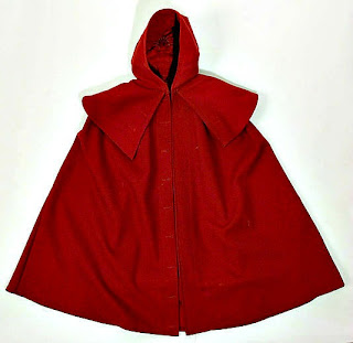Cloak with detachable hood-front view