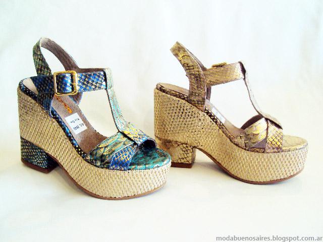 Sandalias primavera verano 2015. Moda Argentina calzado femenino Avance Collection.