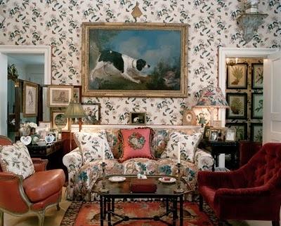 the living room of oscar and annette de la renta beautiful