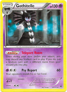 Gothitelle Furious Fists Pokemon Card