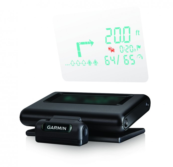 Garmin portable HUD | Garmin portable HUD price $129.99 Garmin portable HUD puts your navigation on car's windshield, Garmin announced HUD, the company's first portable head-up display for smartphone navigation apps. Garmin portable HUD is