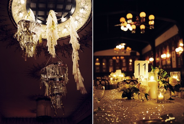 Rivernorthlove glitzy new orleans wedding - Black and gold wedding reception decorations ...