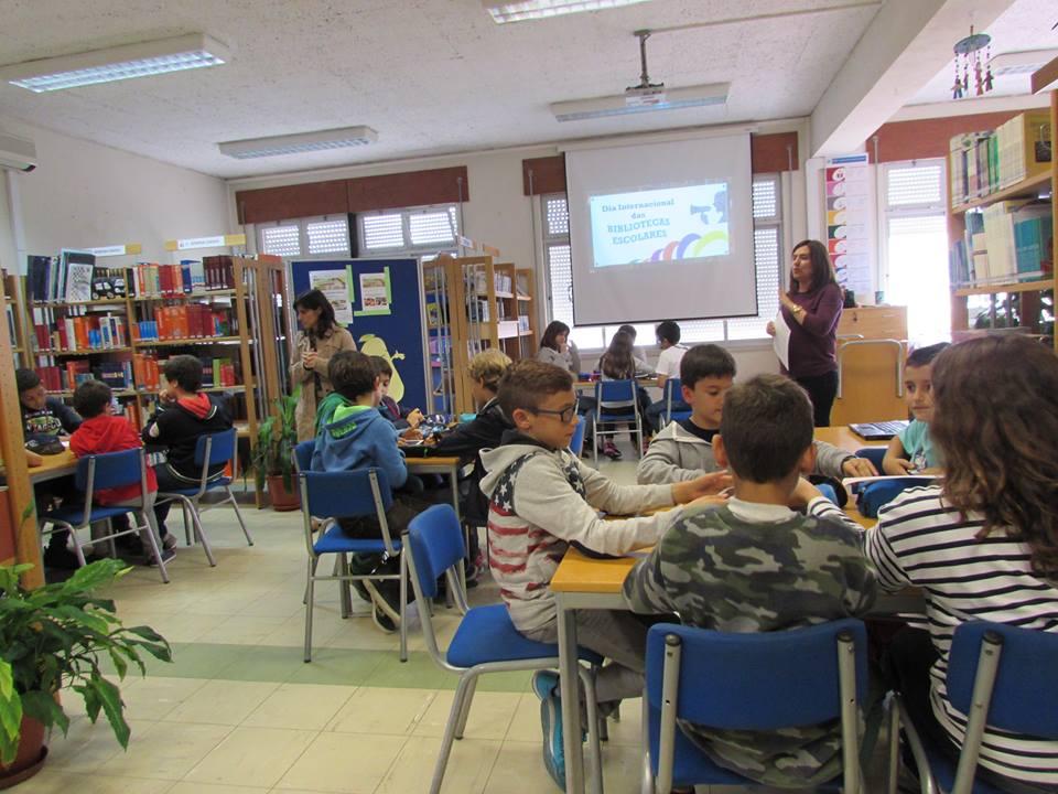 Com a Biblioteca Escolar do agrupamento de escolas Artur Gonçalves