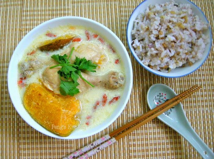 chicken soup #2 : pumpkin soy chicken soup 南瓜豆浆鸡汤