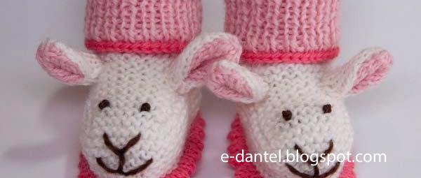 Tavşan Motifli Bebek Patik Modelleri
