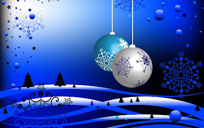 Christmas Balls 3D Background