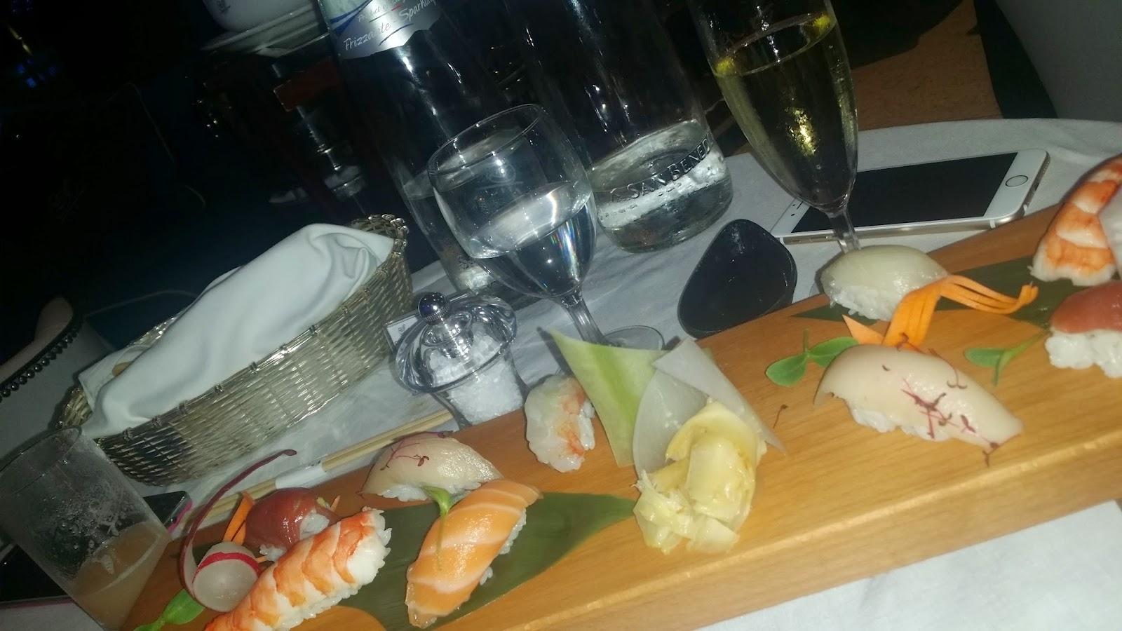 Sushi Platter from F1 menu at Cipriani Yas Island
