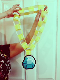 Printable Minecraft diamond necklace