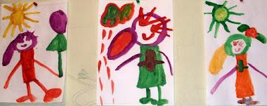 Рисует моя дочка.