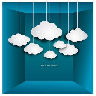 クラウド コンピューティングを表す背景 Cloud Computing イラスト素材