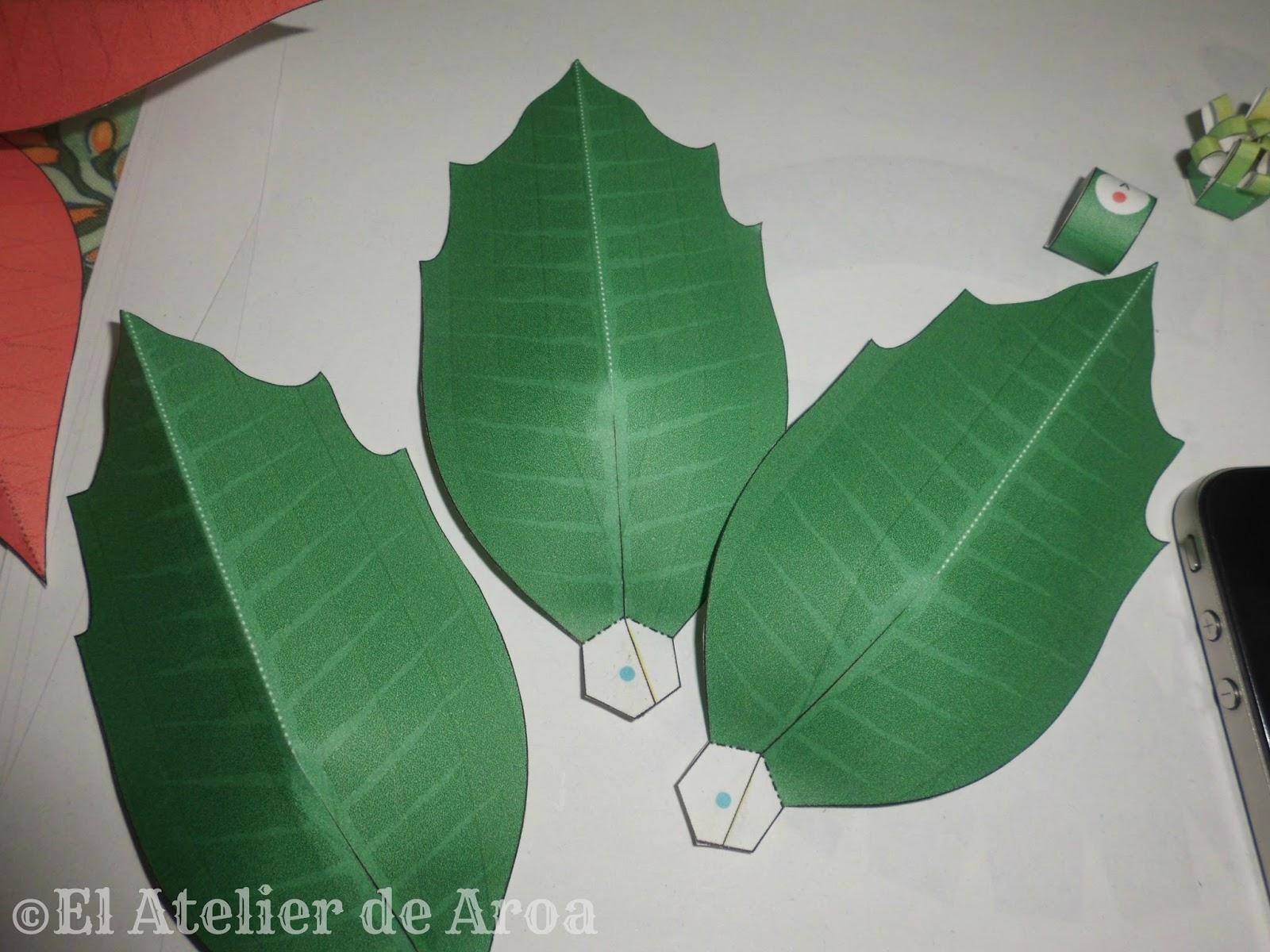 El Atelier de Aroa: Poinsettia en papel