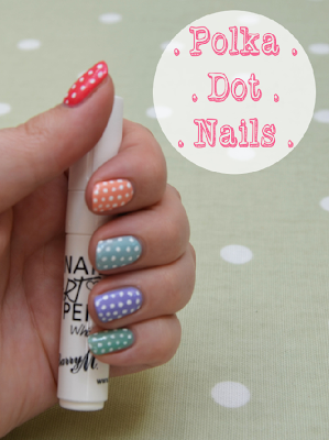 Sping Polka Dot Cute Nails Nail Art Barry M