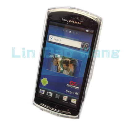 Clear Gel TPU Case Back Cover + LCD Film For Sony Ericsson Xperia Neo MT15i