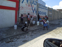 Cite Soleil, Haiti 2011: A broken water main means free clean drinking water