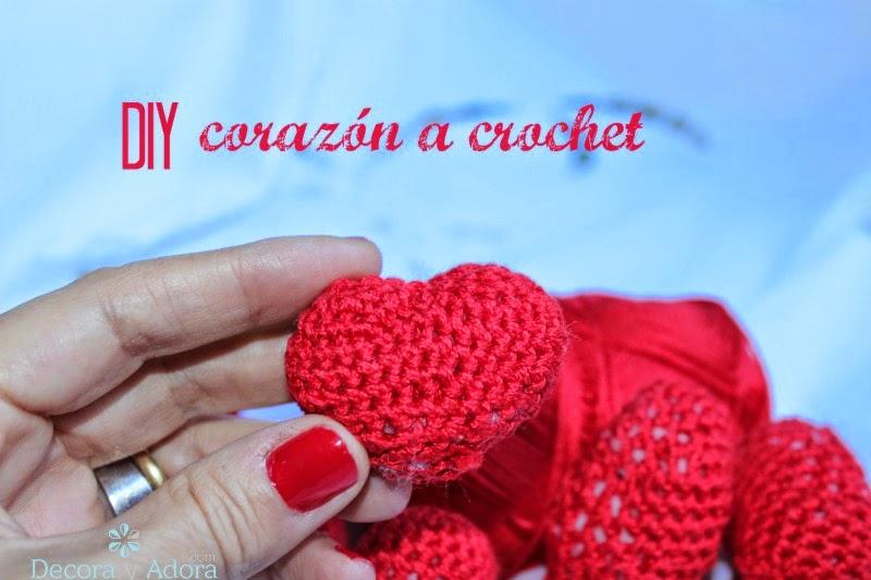 diy corazón crochet
