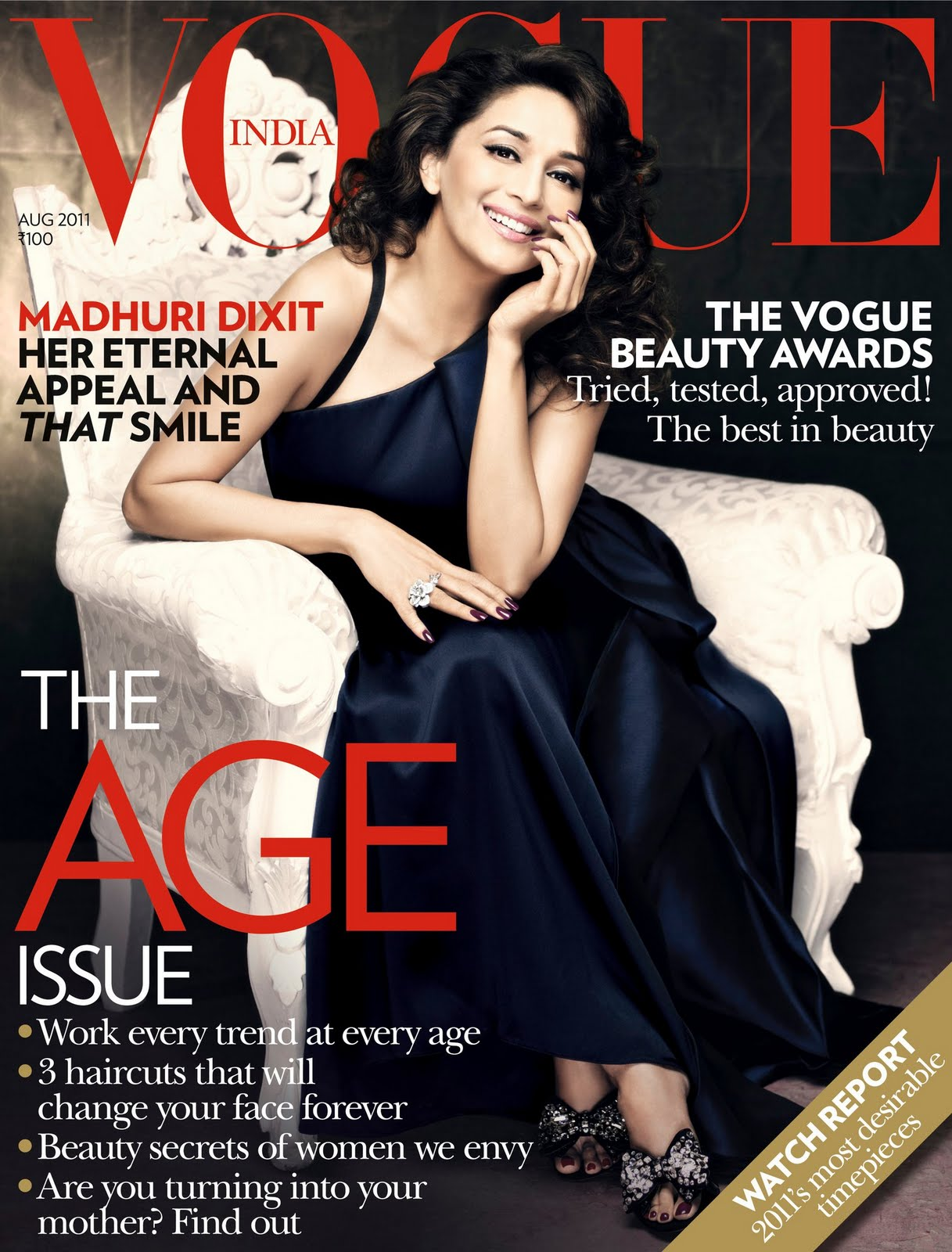 Editorial} Madhuri Dixit for Vogue India August 2011 - Asian ...