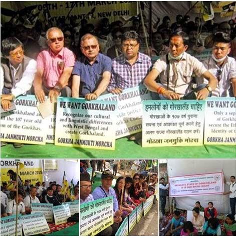 Dharna at Delhi for century old Gorkhaland demand