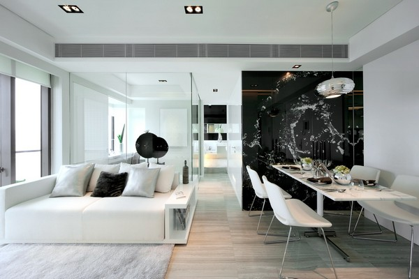 Black and White Contemporary Interiors Design Ideas | Decorating Homes