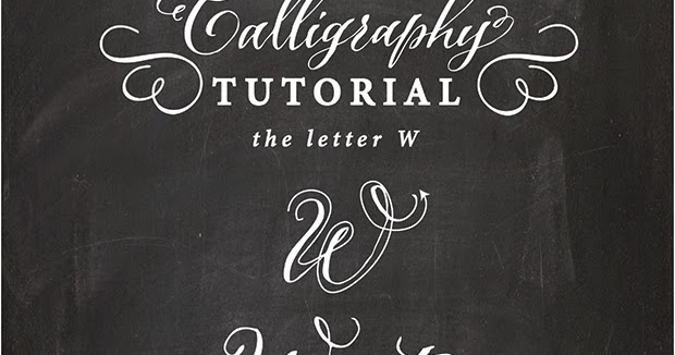 Antiquaria Calligraphy Tutorial The Capital Letter W